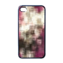 Stylized Rose Pattern Paper, Cream And Black Apple Iphone 4 Case (black)