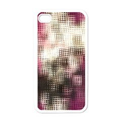 Stylized Rose Pattern Paper, Cream And Black Apple iPhone 4 Case (White)