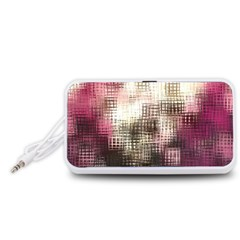 Stylized Rose Pattern Paper, Cream And Black Portable Speaker (white)