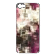 Stylized Rose Pattern Paper, Cream And Black Apple iPhone 5 Case (Silver)