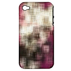 Stylized Rose Pattern Paper, Cream And Black Apple iPhone 4/4S Hardshell Case (PC+Silicone)