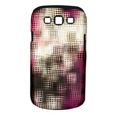 Stylized Rose Pattern Paper, Cream And Black Samsung Galaxy S III Classic Hardshell Case (PC+Silicone)
