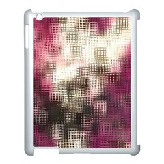 Stylized Rose Pattern Paper, Cream And Black Apple iPad 3/4 Case (White)