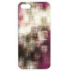 Stylized Rose Pattern Paper, Cream And Black Apple Iphone 5 Hardshell Case With Stand