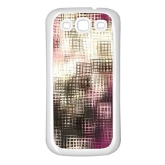 Stylized Rose Pattern Paper, Cream And Black Samsung Galaxy S3 Back Case (White)