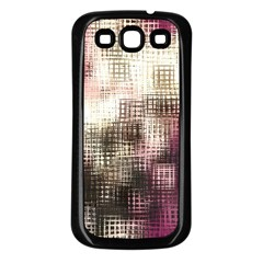 Stylized Rose Pattern Paper, Cream And Black Samsung Galaxy S3 Back Case (black)