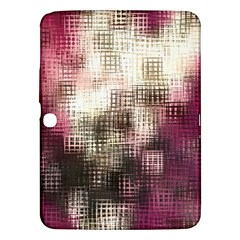 Stylized Rose Pattern Paper, Cream And Black Samsung Galaxy Tab 3 (10 1 ) P5200 Hardshell Case