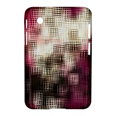Stylized Rose Pattern Paper, Cream And Black Samsung Galaxy Tab 2 (7 ) P3100 Hardshell Case