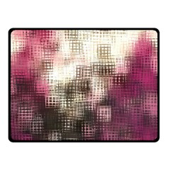 Stylized Rose Pattern Paper, Cream And Black Double Sided Fleece Blanket (small)