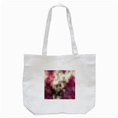 Stylized Rose Pattern Paper, Cream And Black Tote Bag (White)