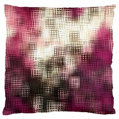 Stylized Rose Pattern Paper, Cream And Black Large Flano Cushion Case (two Sides)