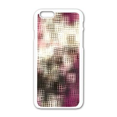Stylized Rose Pattern Paper, Cream And Black Apple Iphone 6/6s White Enamel Case
