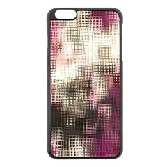 Stylized Rose Pattern Paper, Cream And Black Apple Iphone 6 Plus/6s Plus Black Enamel Case