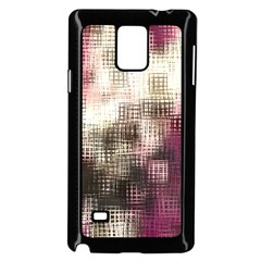 Stylized Rose Pattern Paper, Cream And Black Samsung Galaxy Note 4 Case (Black)
