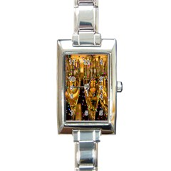 Sylvester New Year S Eve Rectangle Italian Charm Watch