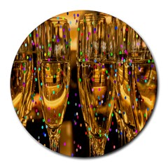 Sylvester New Year S Eve Round Mousepads