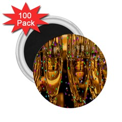 Sylvester New Year S Eve 2 25  Magnets (100 Pack)