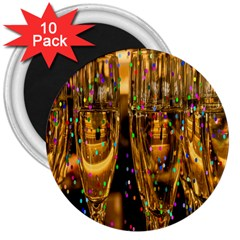 Sylvester New Year S Eve 3  Magnets (10 pack)