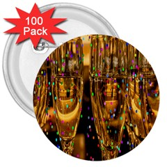 Sylvester New Year S Eve 3  Buttons (100 pack)