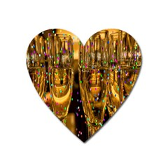 Sylvester New Year S Eve Heart Magnet