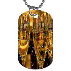 Sylvester New Year S Eve Dog Tag (one Side)