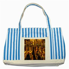 Sylvester New Year S Eve Striped Blue Tote Bag