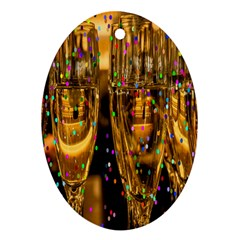 Sylvester New Year S Eve Oval Ornament (two Sides)