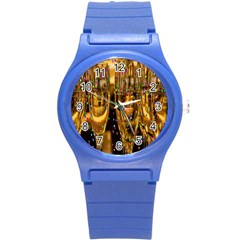 Sylvester New Year S Eve Round Plastic Sport Watch (S)