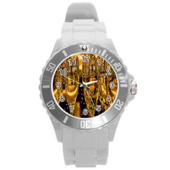 Sylvester New Year S Eve Round Plastic Sport Watch (l)
