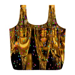 Sylvester New Year S Eve Full Print Recycle Bags (l)