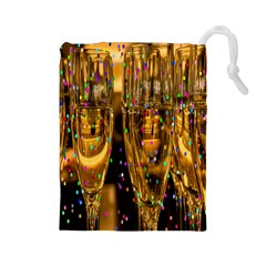 Sylvester New Year S Eve Drawstring Pouches (Large)