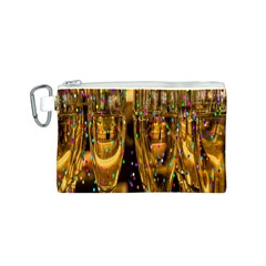 Sylvester New Year S Eve Canvas Cosmetic Bag (s)