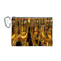 Sylvester New Year S Eve Canvas Cosmetic Bag (m)