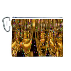 Sylvester New Year S Eve Canvas Cosmetic Bag (L)