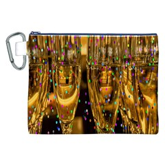 Sylvester New Year S Eve Canvas Cosmetic Bag (XXL)