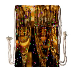 Sylvester New Year S Eve Drawstring Bag (large)