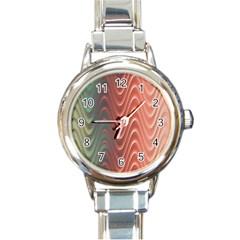 Texture Digital Painting Digital Art Round Italian Charm Watch