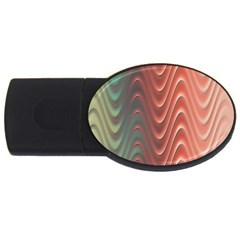 Texture Digital Painting Digital Art USB Flash Drive Oval (1 GB)