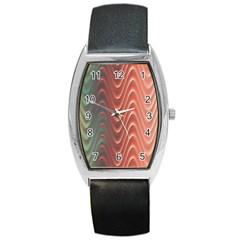 Texture Digital Painting Digital Art Barrel Style Metal Watch
