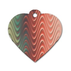 Texture Digital Painting Digital Art Dog Tag Heart (one Side)