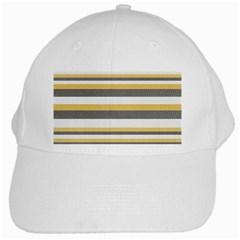 Textile Design Knit Tan White White Cap