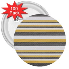 Textile Design Knit Tan White 3  Buttons (100 pack)