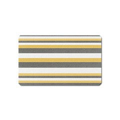 Textile Design Knit Tan White Magnet (Name Card)