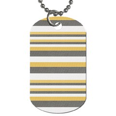 Textile Design Knit Tan White Dog Tag (one Side)