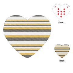 Textile Design Knit Tan White Playing Cards (Heart)