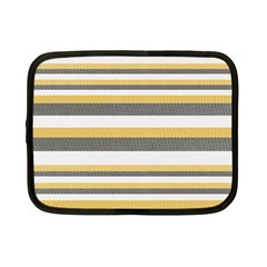 Textile Design Knit Tan White Netbook Case (Small)
