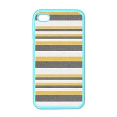 Textile Design Knit Tan White Apple iPhone 4 Case (Color)