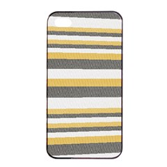 Textile Design Knit Tan White Apple iPhone 4/4s Seamless Case (Black)