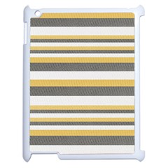 Textile Design Knit Tan White Apple Ipad 2 Case (white)