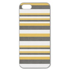 Textile Design Knit Tan White Apple Seamless Iphone 5 Case (clear)